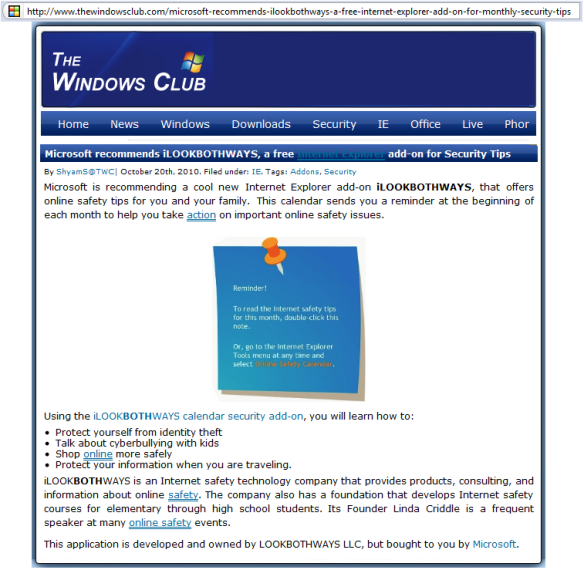 Internet Safety Calendar Is Popular Download   iLookBothWays